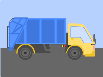 Rear lift waste truck